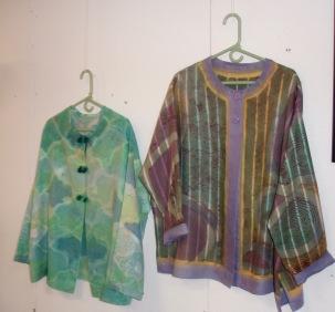 Dye painted linen shirts
