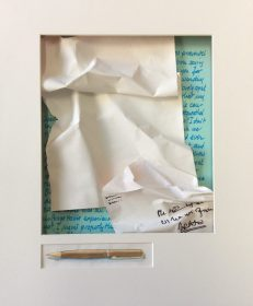 The Letter not Written, mixed papers, ink, watercolor