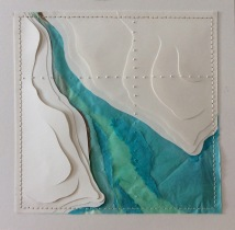 """Estuary, layered mixed papers, 13x13"""""""